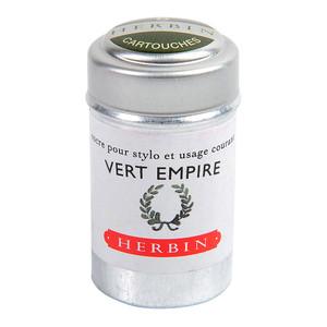 Herbin Writing Ink Cartridge Vert Empire Pack of 6