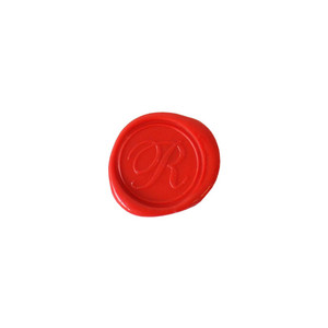 Herbin Wooden Handle Round Seal Copperplate R