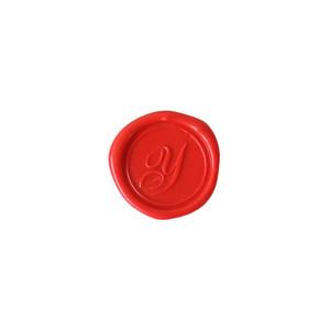 Herbin Wooden Handle Round Seal Copperplate Y