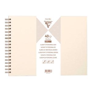 Clairefontaine Hardcover Album 32x24cm Iridescent Ivory