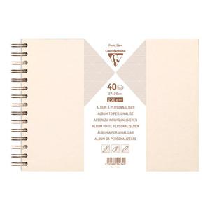 Clairefontaine Hardcover Album 27x20cm Iridescent Ivory