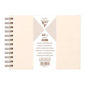 Clairefontaine Hardcover Album 21x16cm Iridescent Ivory
