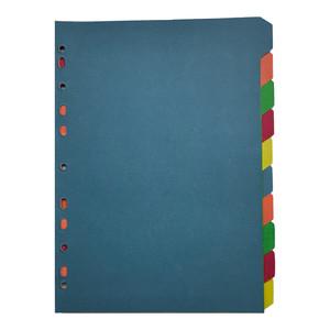 Cardboard Dividers 10 Tab Coloured