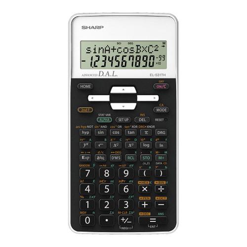 Sharp EL-531THBWH Scientific Calculator with Cover