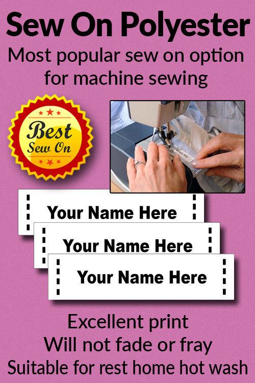 Sew On Labels - Polyester