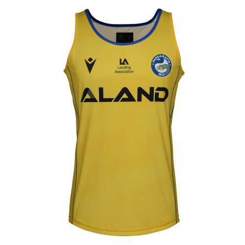 Parramatta Eels 2021 Macron Mens Training Singlet Yellow