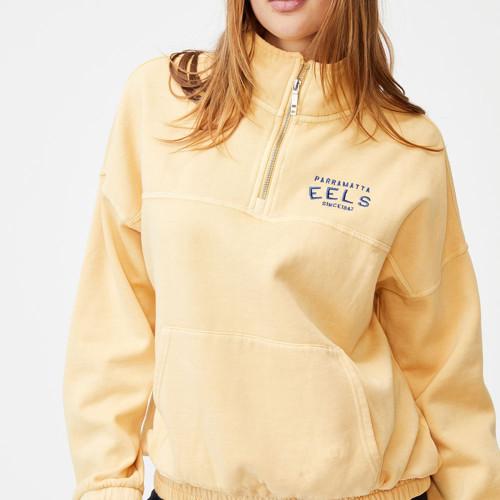 Parramatta Eels 2021 CottonOn Womens 1/4 Zip Fleece Jumper