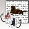 Chocolate Lab Lying Love Me Mug
