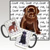 Chocolate Lab Pup Love Me Mug