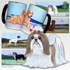 Tan & White Shih Tzu Cutting Board