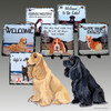 American Cocker Spaniel Pair Slate Signs