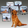 Golden Retriever Pair Slate Signs