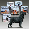 Black Lab Standing Slate Signs