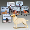 Yellow Lab Standing Slate Signs