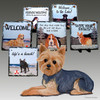 Yorkshire Terrier Puppy Clip Slate Signs