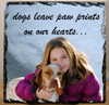 Custom Photo Slate Sign - dogs leave paw prints on our hearts