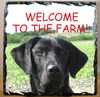 Custom Photo Slate Sign - welcome to the farm