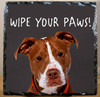 Custom Photo Slate Sign - Wipe Your Paws