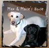 Custom Photo Slate Sign - Max and Maise's House