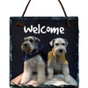 Custom Photo Slate Sign - Schnauzers Welcome