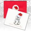 Bichon Frise Facing Front Christmas Cards