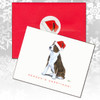 Brindle & White Bull Terrier Christmas Cards