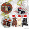 Labrador Retriever Trio Xmas Ornament