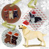 Yellow Lab Standing Xmas Ornament