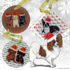Red and White Papillon Xmas Ornament
