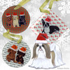 Tan & White Shih Tzu Xmas Ornament