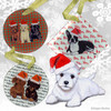West Highland White Terrier Puppy Xmas Ornament