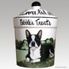 Custom Hand Painted Personalized Treat Jar by Zeppa Studios, Boston Terrier