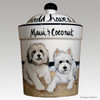 Hand Painted Custom Treat Jar by Zeppa Studios, 2 dogs