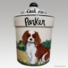 Hand Painted Custom Treat Jar by Zeppa Studios, Cavalier King Charles