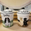 2 Hand Painted Custom Treat Jars by Zeppa Studios