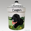 Hand Painted Custom Treat Jar by Zeppa Studios, Cooper