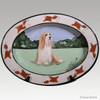 Original Style Hand Painted Platter, Bearded Collie