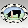 Original Style Hand Painted Platter, Pig