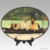 Hand Painted Gallery Style Rim Platter, Pet Portraits