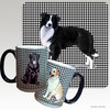 Border Collie Houndsztooth Mug