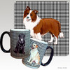 Brown Border Collie Houndzstooth Mug