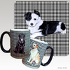 Border Collie Puppy Houndsztooth Mug
