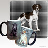 Liver and White Brittany Houndzstooth Mug