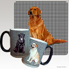Sitting Golden Retriever Houndzstooth Mug