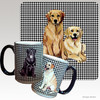 Golden Retriever Pair Houndzstooth Mug