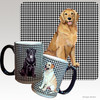 Smiling Golden Retriever Houndzstooth Mug