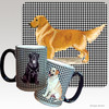 Standing Golden Retriever Houndzstooth Mug