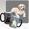 Golden Retriever Puppy Houndzstooth Mug