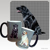Black Lab Sitting Houndzstooth Mug