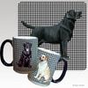 Black Lab Standing Houndzstooth Mug
